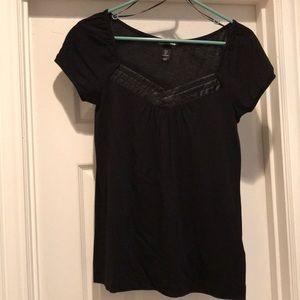 H&M black short sleeve top size S